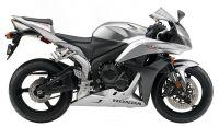 Honda CBR 600RR 2008 - Silber Version - Dekorset