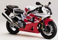 Honda CBR 929RR 2001 - Weiß/Rote Version - Dekorset