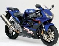Honda CBR 954RR 2003 - Blaue Version - Dekorset