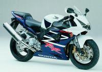 Honda CBR 954RR 2003 - Weiß/Dunkelblaue Version - Dekorset
