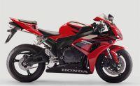 Honda CBR 1000RR 2007 - Rot/Schwarze EU Version - Dekorset