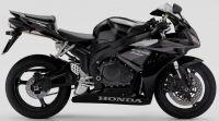 Honda CBR 1000RR 2007 - Schwarz/Graue EU Version - Dekorset