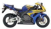 Honda CBR 1000RR 2006 - Gelb/Blau Version - Dekorset