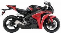 Honda CBR 1000RR 2010 - Rot/Schwarze Version - Dekorset