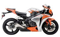 Honda CBR 1000RR 2010 - Orange/Silber Version - Dekorset