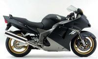 Honda CBR 1100XX 2000 - Matt Schwarz/Silber Version - Dekorset