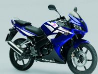 Honda CBR 125R 2007 - Blaue Version - Dekorset
