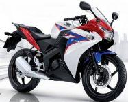 Honda CBR 150R 2012 - Weiß/Blaue Version - Dekorset