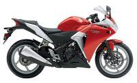 Honda CBR 250R 2011 - Rot/Silber Version - Dekorset
