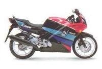 Honda CBR 600 F2 - Schwarz/Pink/Grüne Version - Dekorset