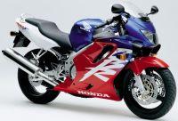 Honda CBR 600 F4 2000 - Rot/Weiß/Blaue Version - Dekorset