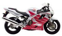 Honda CBR 600 F4 2000 - Silber/Rote Version - Dekorset