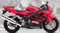 Honda CBR 600 F4i 2001 - Rote Version - Dekorset