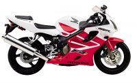 Honda CBR 600 F4i 2001 - Rot/Weiße Version - Dekorset