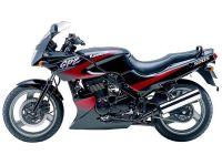 Kawasaki GPZ 500S 2001 - Schwarz/Rot Version - Dekorset