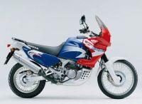 Honda XRV 750 Africa Twin 2002 - Blau/Rote Version - Dekorset