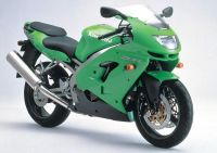 Kawasaki ZX-9R 1999 - Grüne Version - Dekorset