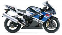 Suzuki GSX-R 1000 2003 - Weiß/Blaue Version - Dekorset