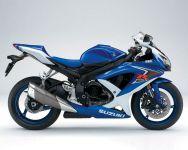 Suzuki GSX-R 600 2008 - Weiß/Blaue Version - Dekorset