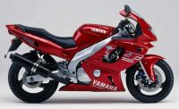 Yamaha YZF-600R 2000 - Weinrot Version - Dekorset