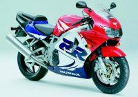 Honda CBR 919RR 1999 - Weiß/Rot/Blaue Version - Dekorset