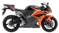 Honda CBR 600RR 2010 - Orange/Schwarze Version - Dekorset
