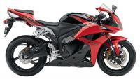 Honda CBR 600RR 2010 - Rot/Schwarze Version - Dekorset