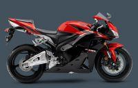 Honda CBR 600RR 2011 - Schwarz/Rote Version - Dekorset