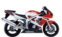 Yamaha YZF-R6 RJ03 1999 - Rot/Weiße Version - Dekorset