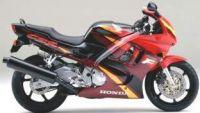 Honda CBR 600 F3 1996 - Burgunder/Schwarz/Rote Version - Dekorset