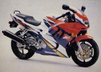 Honda CBR 600 F3 1996 - Rot/Lila/Weiße Version - Dekorset