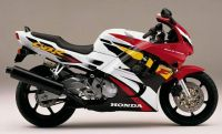 Honda CBR 600 F3 1996 - Weiß/Rot/Schwarze Version - Dekorset
