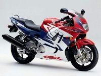 Honda CBR 600 F3 1997 - Weiß/Rot/Lila Version - Dekorset