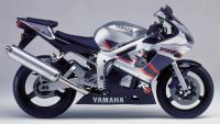 Yamaha YZF-R6 RJ03 1999 - Silber/Schwarze Version - Dekorset