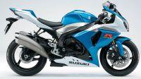 Suzuki GSX-R 1000 2009 - Weiß/Blaue Version - Dekorset