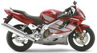 Honda CBR 600 F4i 2005 - Burgunder/Grau Version - Dekorset