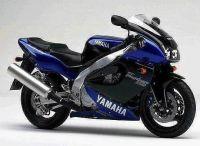 Yamaha YZF-1000R 1997 - Blau/Schwarze Version - Dekorset