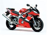 Yamaha YZF-R6 RJ03 2001 - Rote Version - Dekorset