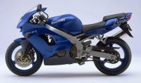 Kawasaki ZX-9R 1998 - Blaue Version - Dekorset