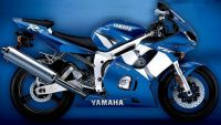 Yamaha YZF-R6 RJ03 2002 - Blaue US Version - Dekorset