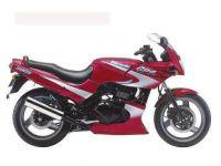 Kawasaki GPZ 500S 1999 - Rot/Silber Version - Dekorset