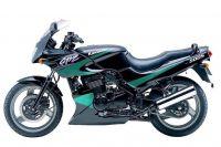 Kawasaki GPZ 500S 2000 - Schwarz/Grün Version - Dekorset