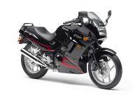 Kawasaki 250R Ninja 2007 - Schwarz/Chrome Rote Version - Dekorset