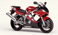Yamaha YZF-R6 RJ03 2002 - Rote Version - Dekorset