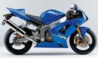 Kawasaki ZX-6R 2003 - Blaue Version - Dekorset
