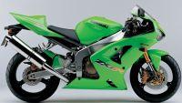 Kawasaki ZX-6R 2003 - Grüne Version - Dekorset