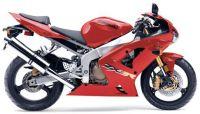Kawasaki ZX-6R 2003 - Rote Version - Dekorset