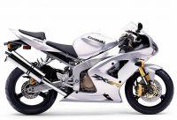 Kawasaki ZX-6R 2003 - Silber Version - Dekorset