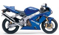 Kawasaki ZX-6R 2004 - Blaue Version - Dekorset