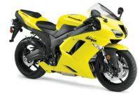 Kawasaki ZX-6R 2008 - Gelbe Version - Dekorset